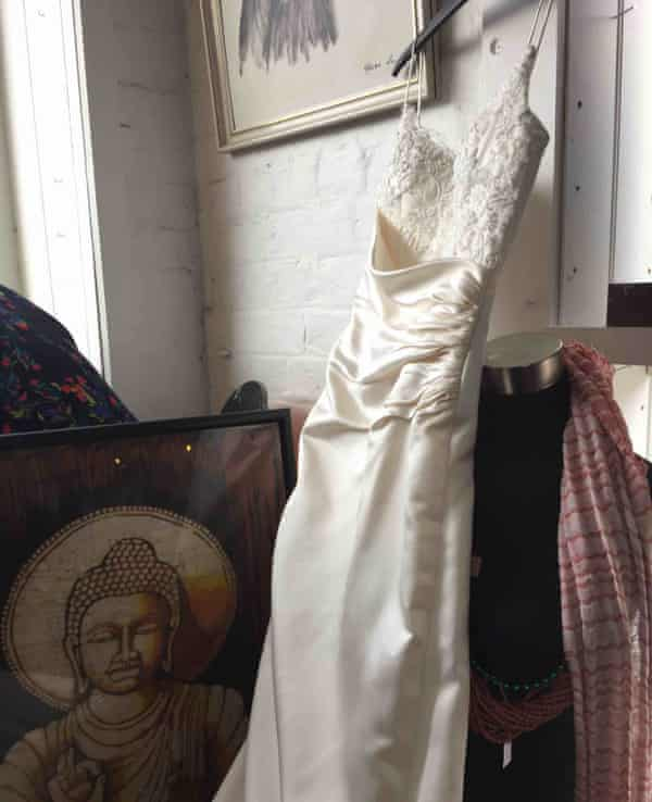 A wedding dress found in Melbourne while op shopping with Clare Press.