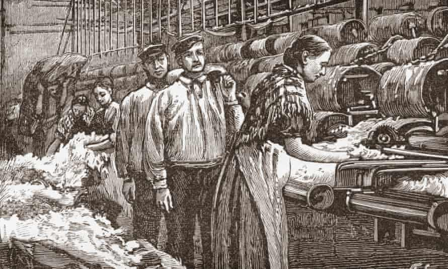 Mill workers in the late 19th century.