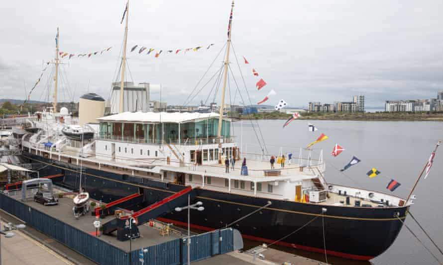 A general view of the 'HM Yacht Britannia'