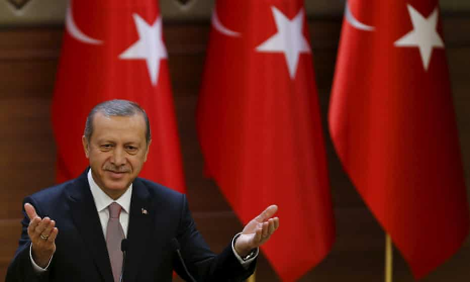 Turkish president Recep Tayyip Erdoğan says he gave the order to fire himself.