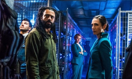 Snowpiercer ... (from left) Sam Otto, Daveed Diggs, Alison Wright and Jennifer Connelly.