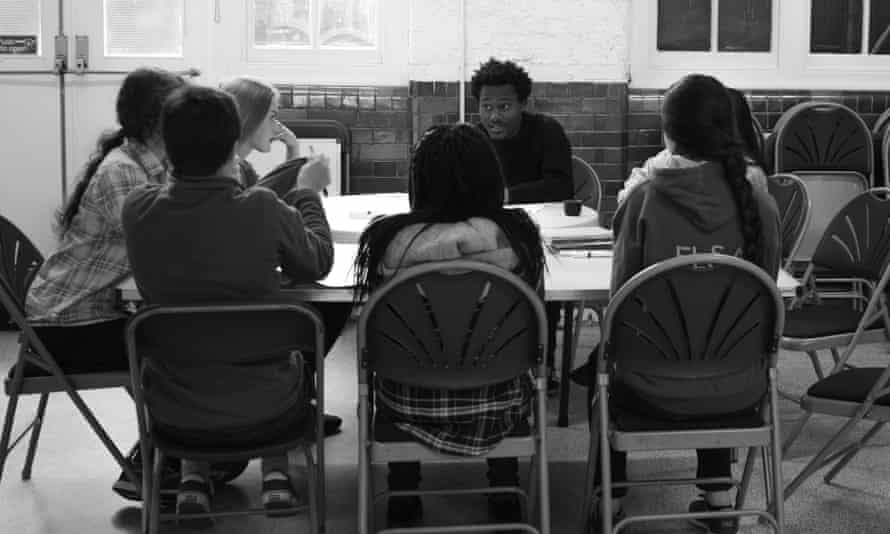 Ric Flo leads a workshop in Kilburn