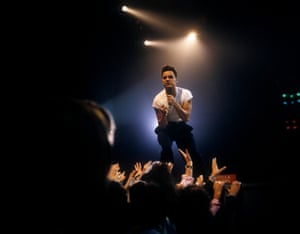 Kamen performing on stage. His song Tell Me became a huge hit in Italy in the summer of 1988, spending nine weeks at No 1