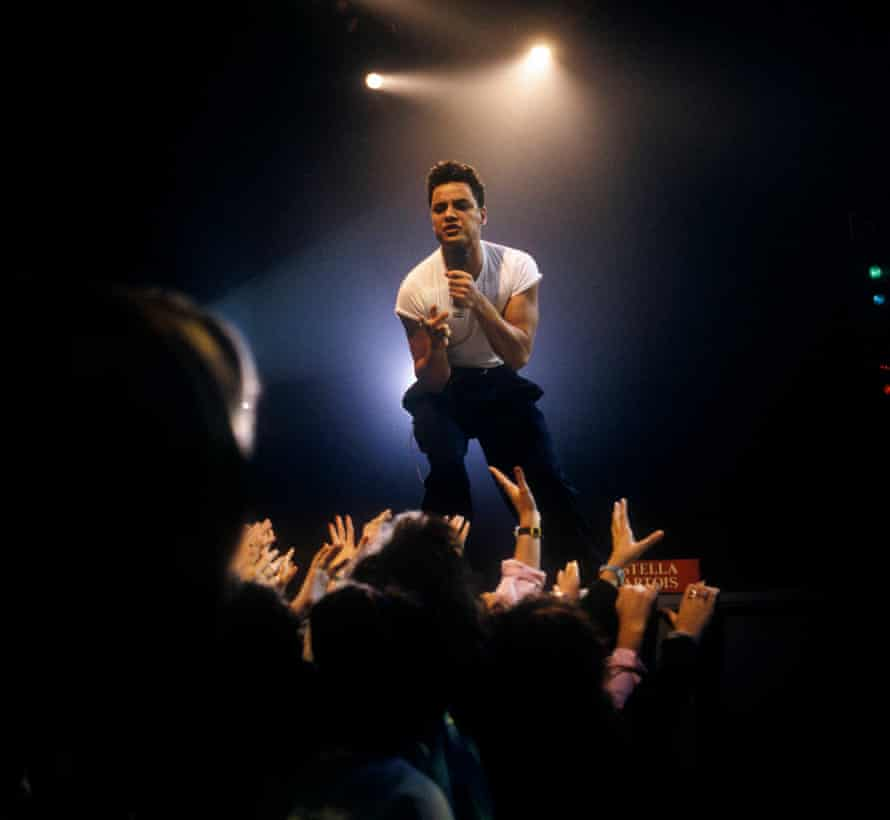 Nick Kamen performing.