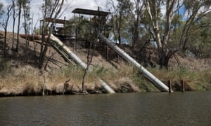 Pumps to a cotton farm on the Barwon River
