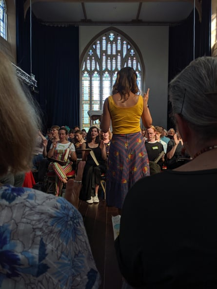 Sacred Harp singers in Bristol.