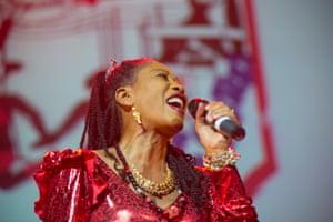 Kehinde Lijadu performing in April 2014.
