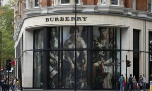 The Burberry store in Knightsbridge, London.