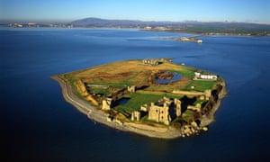 Aerial image of Piel Island, Furness Peninsula