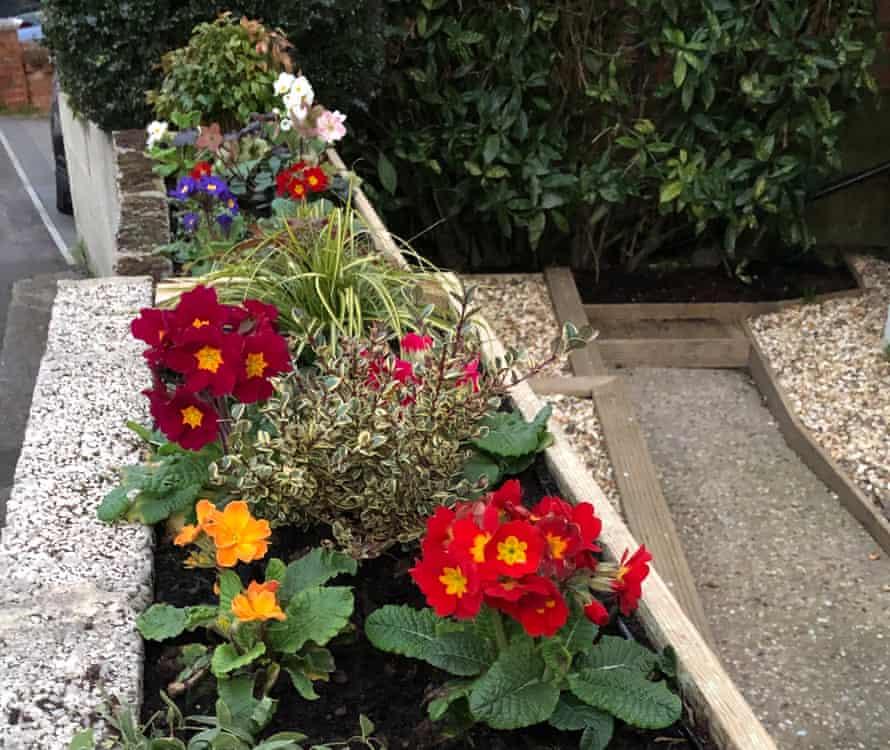Melanie Vasseur's colourful front garden