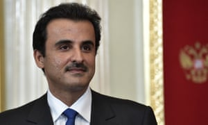 The emir of Qatar, Tamim bin Hamad Al Thani