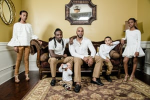 Fashion and social media stars, Kaleb Anthony and Kordale Lewis with their children Desmiray, Kaleb Jnr, Kordale Jnr and Maliyah