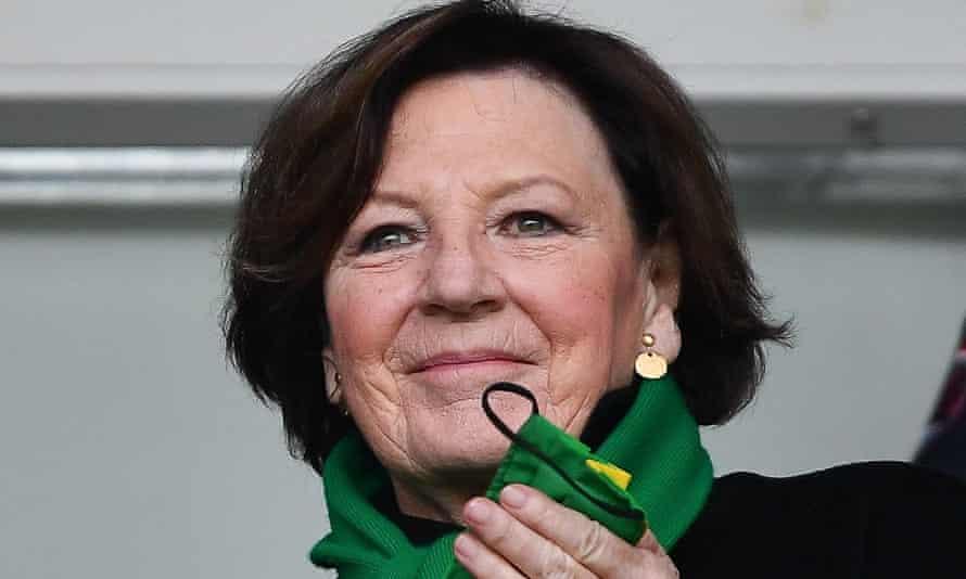 Delia Smith, earlier.
