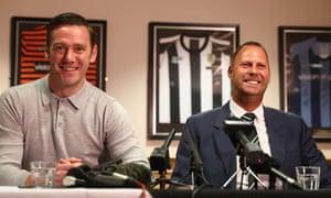 Kevin Nolan and Alan Hardy