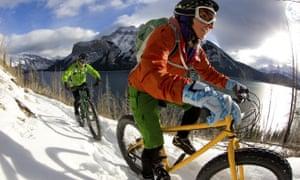 Fat riding at Les Deux Alpes