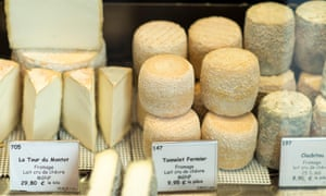 Cheese for sale at outdoor market, Paris, France