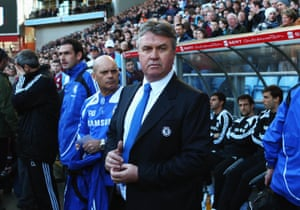 Chelsea's temporary manager Guus Hiddink in 2009.