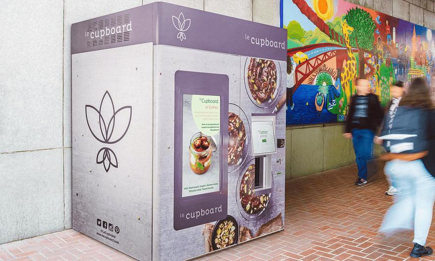 A vegan vending machine from Le Cupboard