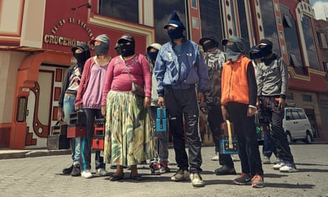 The masked shoe shiners of Bolivia – in pictures
