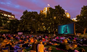 sports shoes 7e750 7ef91 Cinema-goers watch The Shape of Water at an outdoor screen on Victoria  Embankment in