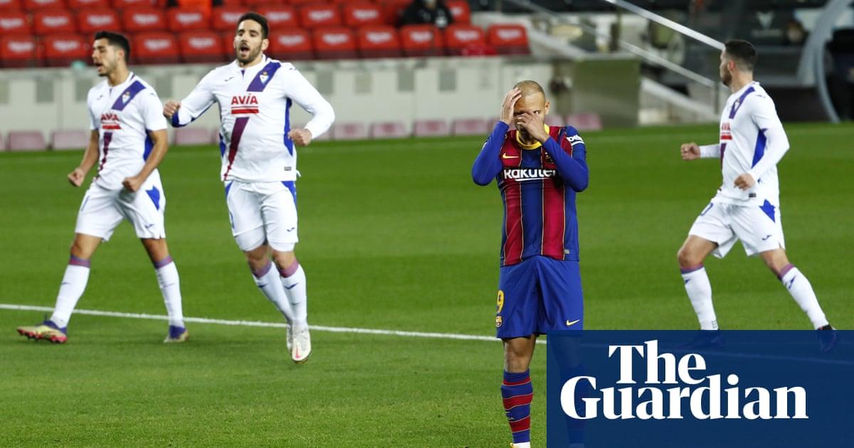 Ronald Koeman says winning title very complicated as Barcelona held by Eibar