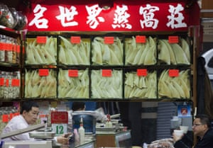 Shark fin traders in Hong Kong