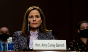 Judge Amy Coney Barrett in Washington DC on Wednesday.