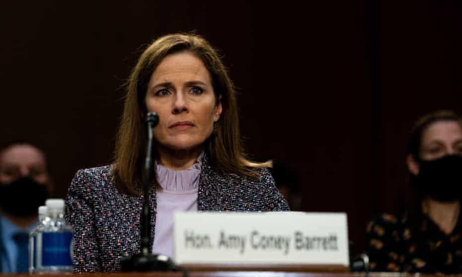Judge Amy Coney Barrett in Washington DC on Wednesday.