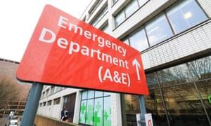 A&E sign St Thomas and Guys hospital
