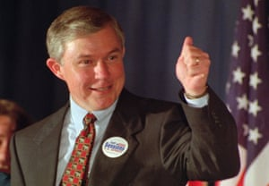 Jeff Sessions celebrates being elected to the US Senate in 1996.