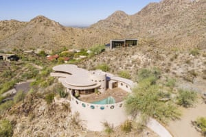 The Phoenix home designed by architect Frank Lloyd Wright.