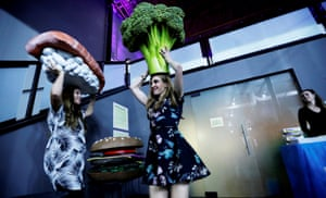 A head of broccoli? Visitors test the selfie props