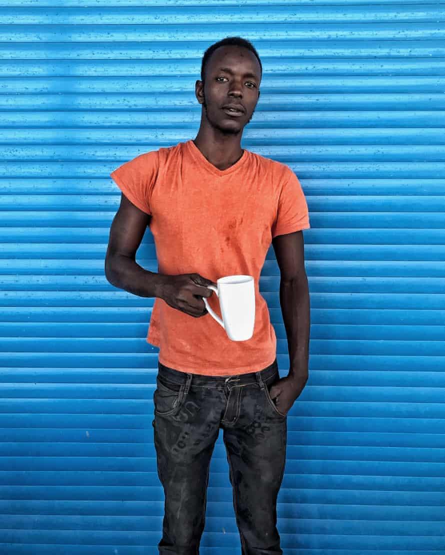 Sound engineer Papis Sarr takes a break from work near Dakar, June 2016
