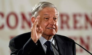 Andrés Manuel López Obrador attends a news conference in Mexico City on 21 May.