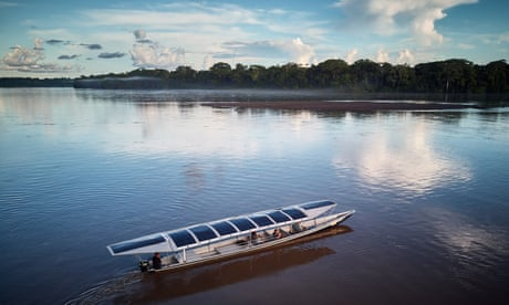 Here comes the sun canoe, as Amazonians take on Big Oil