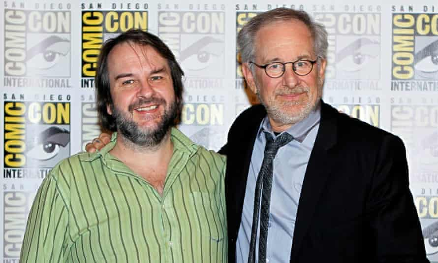 Hollywood heavyweights ... Peter Jackson and Steven Spielberg.