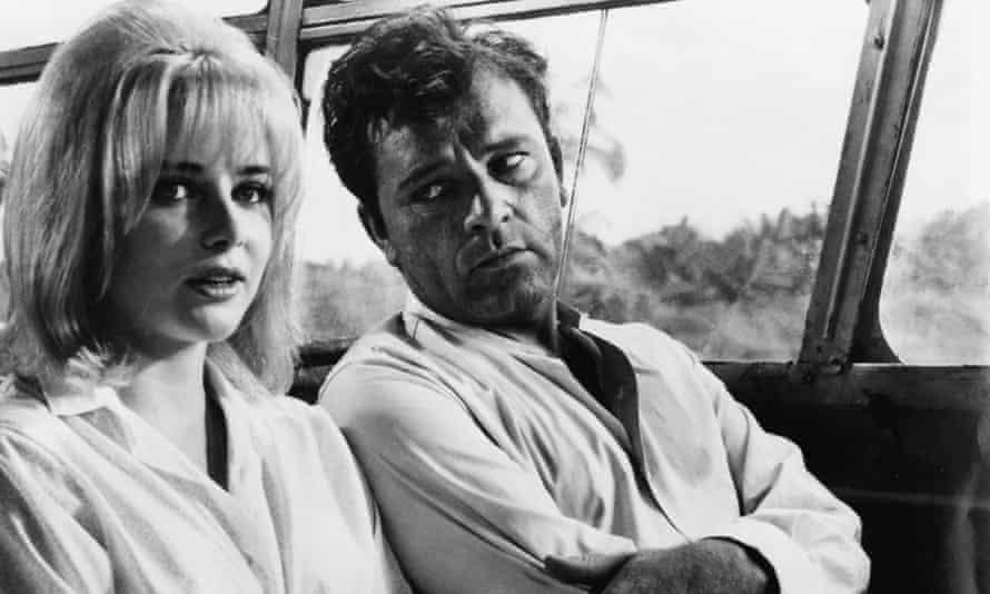 Sue Lyon and Richard Burton in The Night of the Iguana, 1964, directed by John Huston.