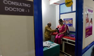 A patient gets tested at India's first dedicated LGBTQ clinic and at the Humsafar Trust, Santacruz, Mumbai.