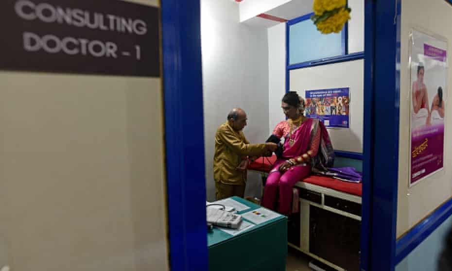 A patient gets tested at India's first dedicated LGBTQ clinic and at the Humsafar Trust, Santacruz, Mumbai.