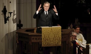 Jeb Bush speaks during a funeral service for his mother, former first lady Barbara Bush.
