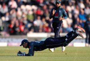 England's Jos Buttler catches out Pakistan's Imad Wasim.