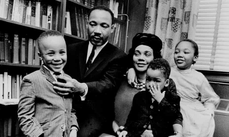 Martin Luther King Jr and Coretta Scott King with their children Martin Luther King III, Dexter and Yolanda
