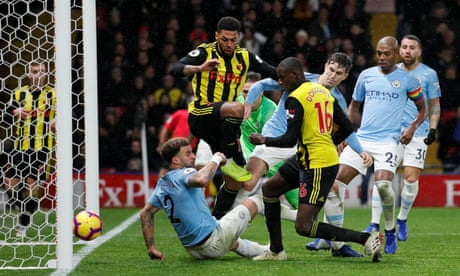 Manchester City given late scare by Watford's Abdoulaye Doucouré