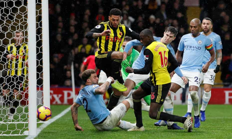 Abdoulaye Doucouré scores in the 85th minute to set up a late Watford rally.