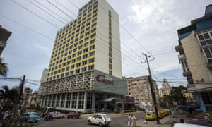 The Hotel Capri in Havana is one of the sites of apparent sonic 'attacks' on US diplomatic personnel.