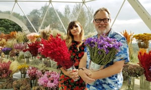 Natasia Demetriou and Vic Reeves in The Big Flower Fight.