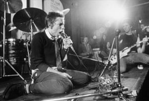 Johnny Rotten and Steve Jones of The Sex Pistols at the 100 Club, London, 1976