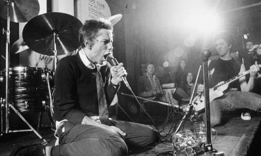 Lydon with Steve Jones at the 100 Club, London in 1976.
