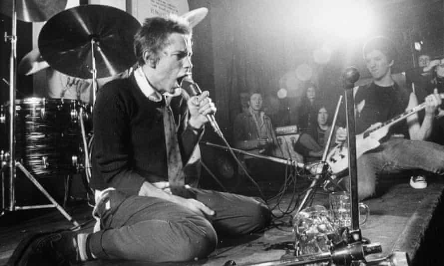 Sex Pistols' Johnny Rotten and Steve Jones at the 100 Club, London in 1976