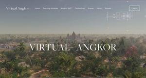 Screenshot from Virtual Angkor project website Photograph: Virtual Angkor project website